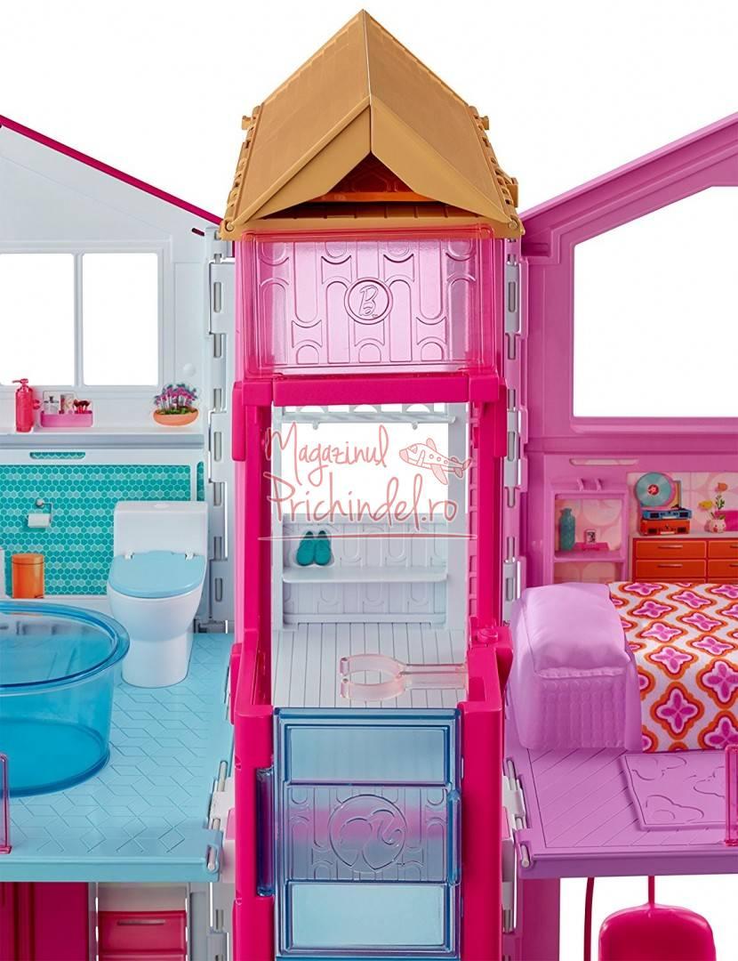 Barbie casa cu 3 etaje din malibu mattel dly32 for Barbie casa malibu