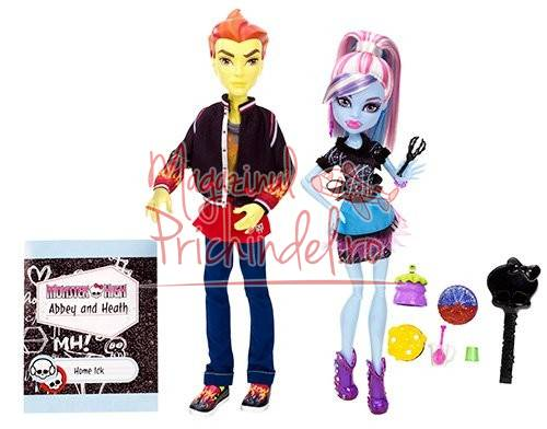 monster high classroom partners abbey bominable and heath