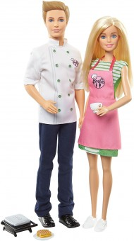 Barbie Cafe Chef papusa Ken si Barbie la cafenea FHP64