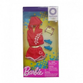 Barbie Olympics 2020 Set Antrenament Rosu GHX83