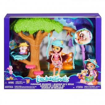 Enchantimals Aventura din parc Felicity Fox si Flick FRH45