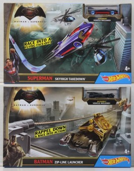 Hot Wheels Batman vs Superman cu Lansator DPL87
