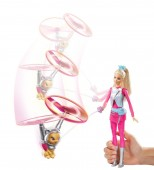 Barbie Star Light Adventure Barbie Doll and Flying Cat DWD24