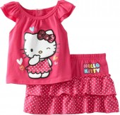 Compleu vara fete Hello Kitty