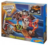 Hot Wheels Monster Jam Pirate Takedown DJK63 set de joaca cu Captains Curse
