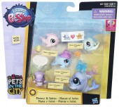 Littlest Pet Shop Mommy si Babies Dolphins B7049