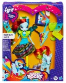 Papusa My Little Pony Equestria Girls Rocks Rainbow Dash cu Ponei A6871