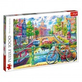 Puzzle Trefl 1000 piese Canal Amsterdam