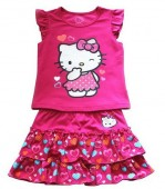 Compleu vara fete Hello Kitty 2-roz