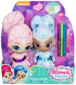 Shimmer si Shine Papusi Deluxe Colour Me Friends Duo 4531
